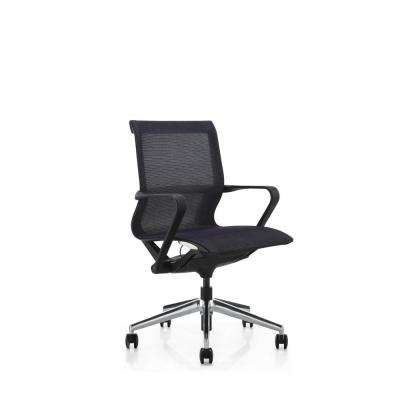 Hilo Series Ergonomic Low Back Mesh Office Chair – Adjustable Height and Seat, Tilt Lock, Extensive Lumbar Support