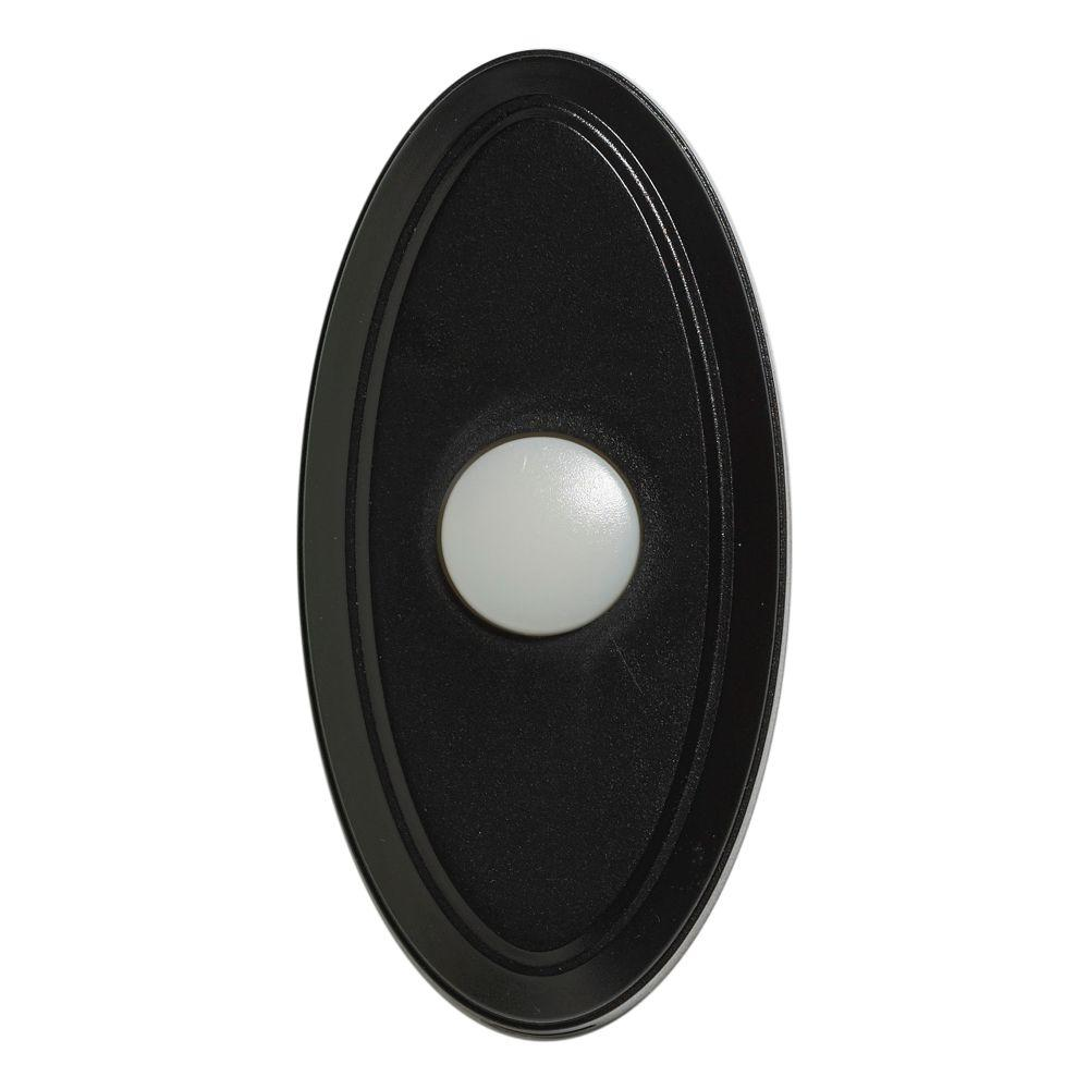 Null Wireless Door Bell Push Button, Black And White