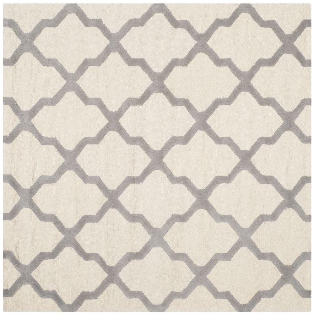 Cambridge Ivory/Silver 8 ft. x 8 ft. Square Area Rug