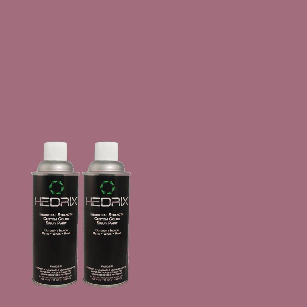 Hedrix 11 oz. Match of 680D-6 Lantana Flat Custom Spray Paint (2-Pack)