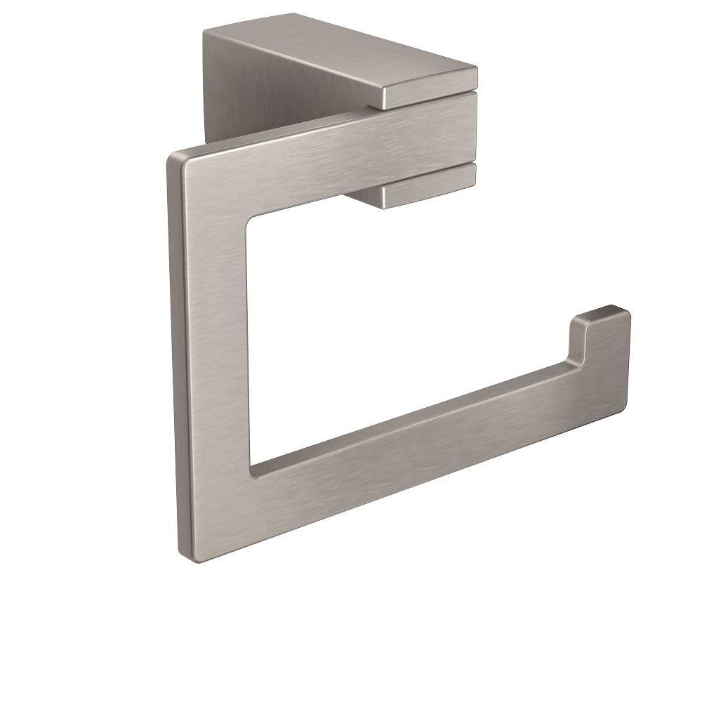 Kyvos Single Post Toilet Paper Holder in Spot Resist Brushed Nickel