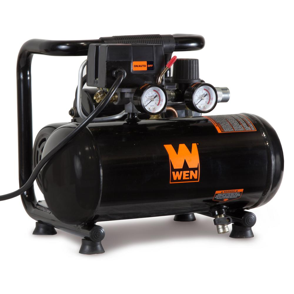 WEN 1 Gal. Oil-Free Horizontal Portable Electric Air Compressor