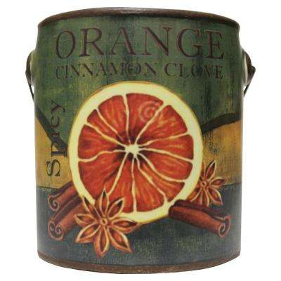 Farm Fresh Ceramic Candle Orange Cinnamon Clove