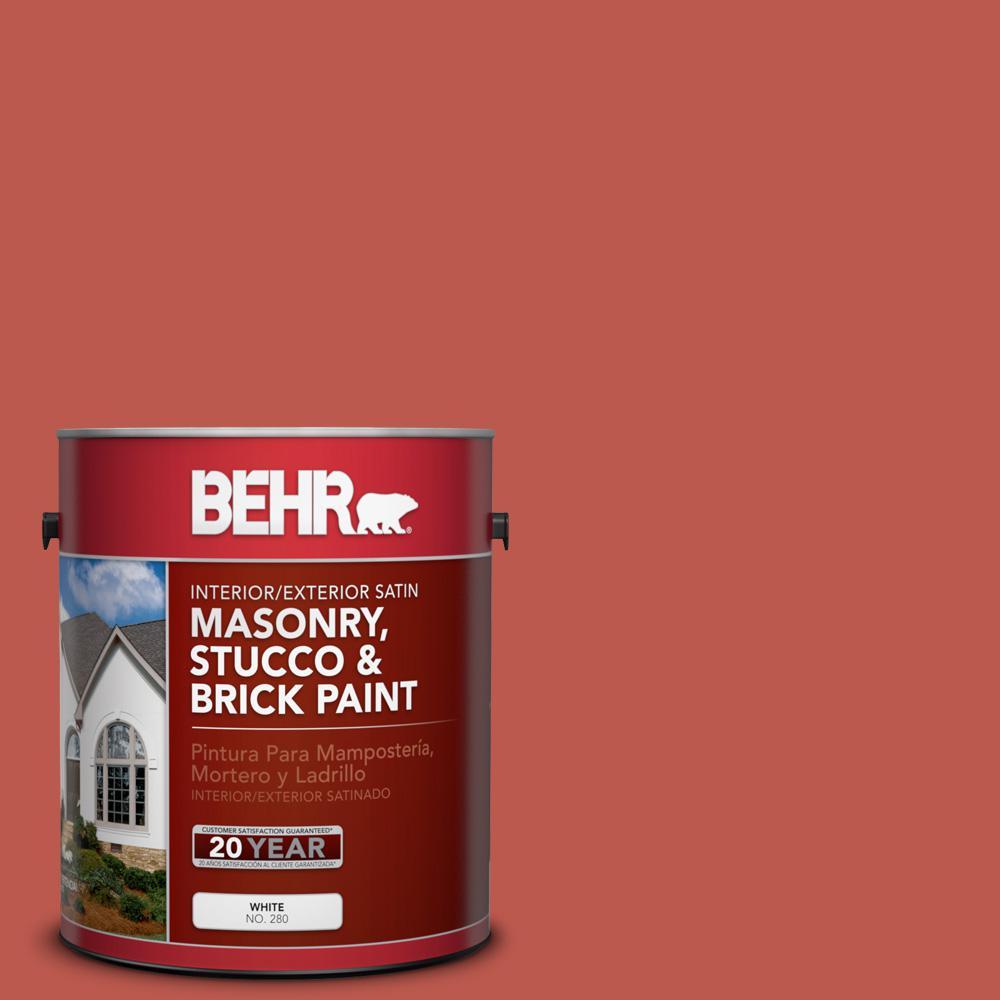 1 gal. #M170-7 Tandoori Satin Interior/Exterior Masonry, Stucco and Brick Paint