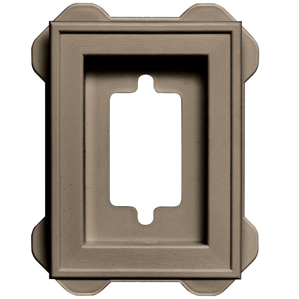4.5 in. x 6.3125 in. #095 Clay Recessed Mini Mounting Block