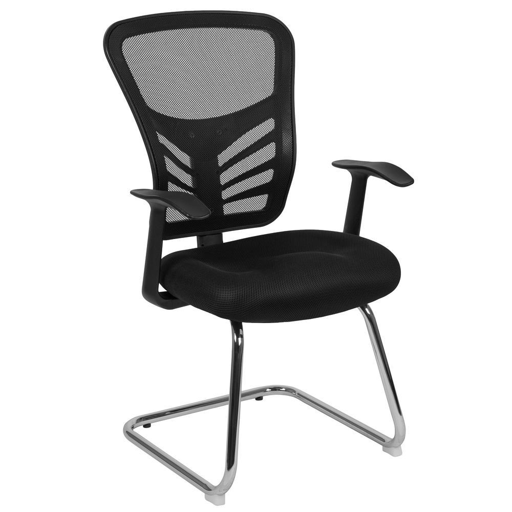 Black Mesh Side Chair