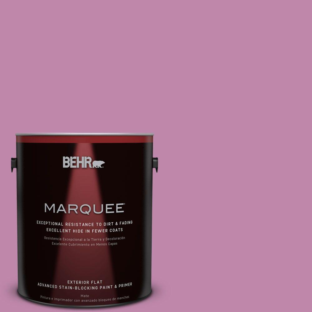 1-gal. #M120-5 Rosy Flat Exterior Paint