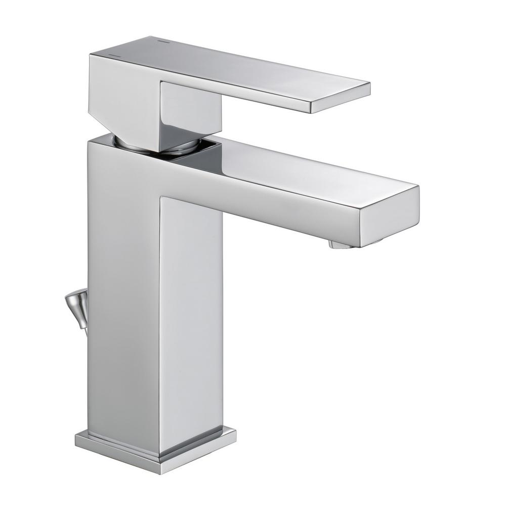 Modern Single Hole Single-Handle Project Pack Bathroom Faucet in Chrome