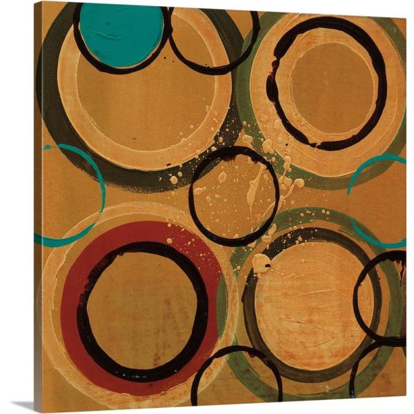 GreatBigCanvas ''Circle Designs II'' by Leslie Bernsen Canvas Wall Art