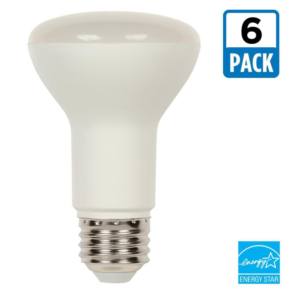westinghouse 50 watt equivalent bright white r20 dimmable led light bulb 6 pack 5316120 the. Black Bedroom Furniture Sets. Home Design Ideas