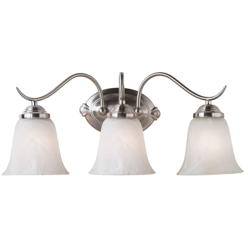 Medusa 3-Light Brushed Steel Vanity Light