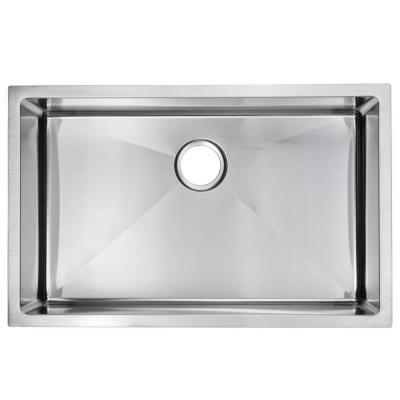 Undermount Stainless Steel 30 in. Single Bowl Kitchen Sink in Satin