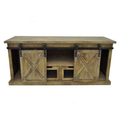 21 in. Brown Wood Cabinet