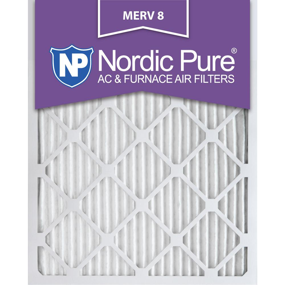 Nordic Pure 16x24x1 MERV 10 Pleated AC Furnace Air Filters 3 Piece