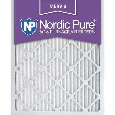 20 in. x 24 in. x 1 in. Dust Reduction Pleated MERV 8 - FPR 6 Air Filter (12-Pack)