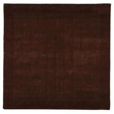 Melrose Chocolate 8 ft. x 8 ft. Square Area Rug