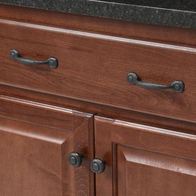 Refined Rustic 3 in. Center-to-Center Black Iron Pull