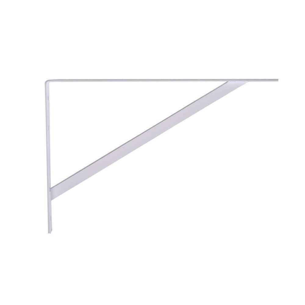 Hardware Essentials 20 in. White Super Strength Shelf Bracket (6-Pack)