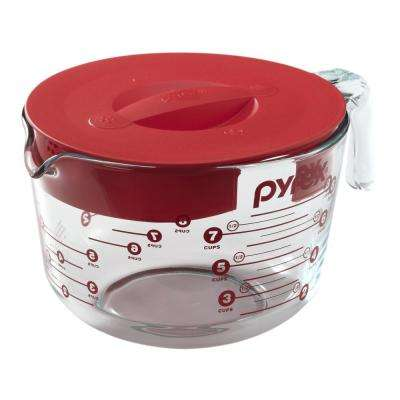 Clear Measuring Cup with Red Lid