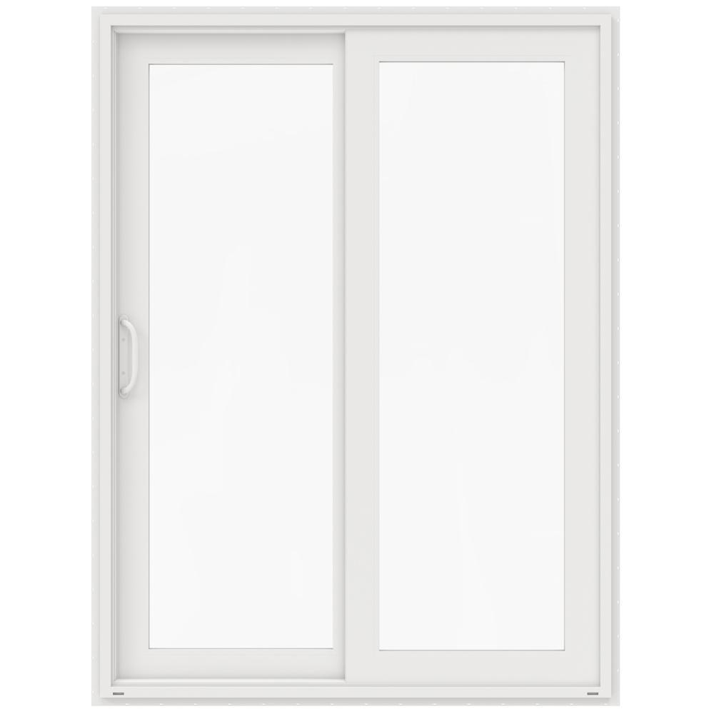jeld wen 60 in x 80 in v 4500 white prehung left hand sliding french 1 lite vinyl patio door. Black Bedroom Furniture Sets. Home Design Ideas