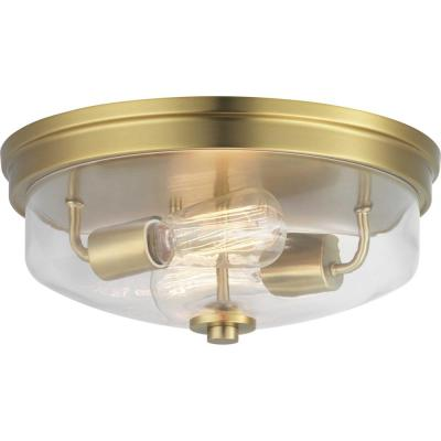 Blakely Collection 2-Light Bronze Flush Mount