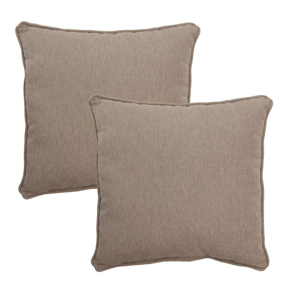 null Textured Silver Pebble Outdoor Throw Pillow (2-Pack)