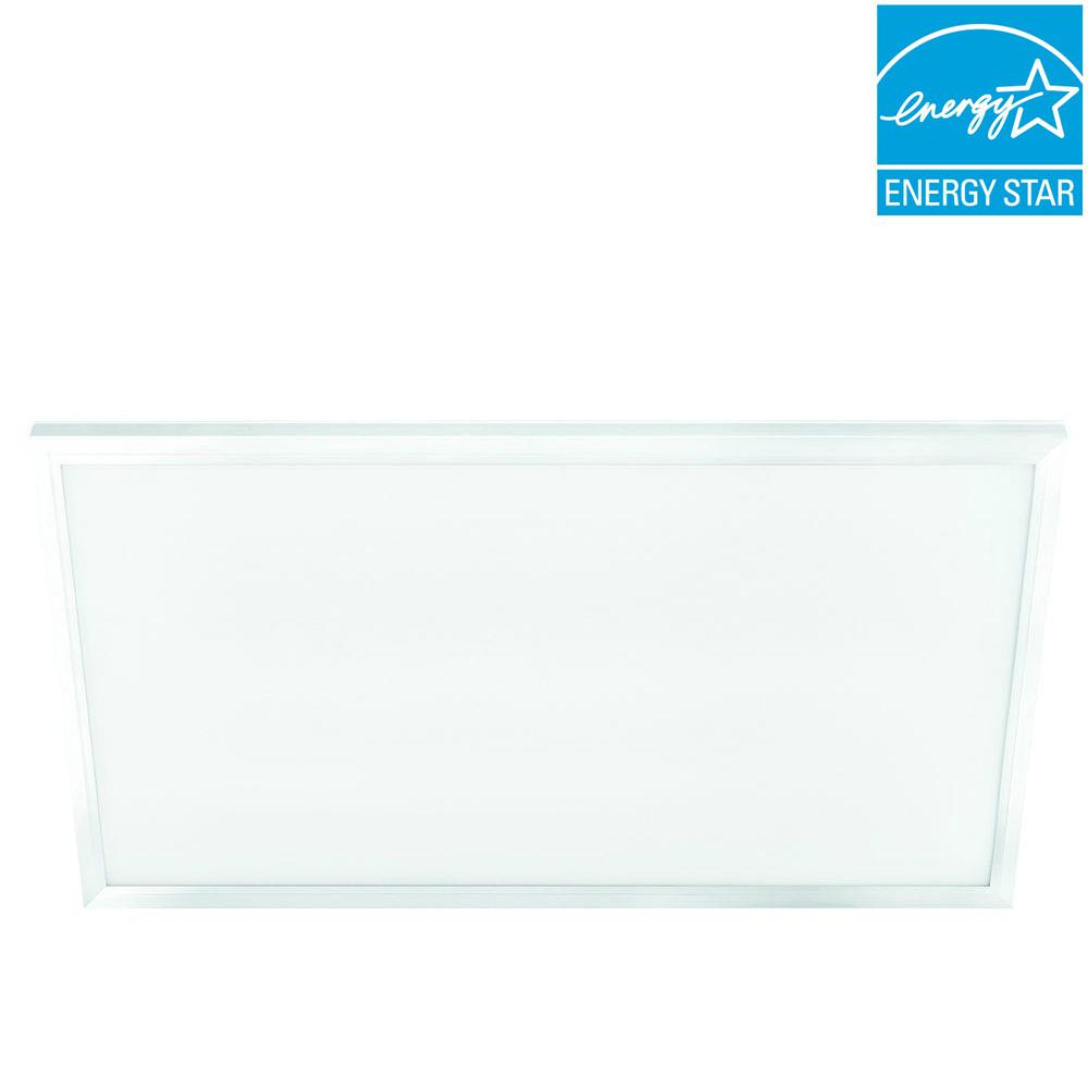 Commercial Electric 2 Ft X 4 White Led Edge Lit Flat Panel