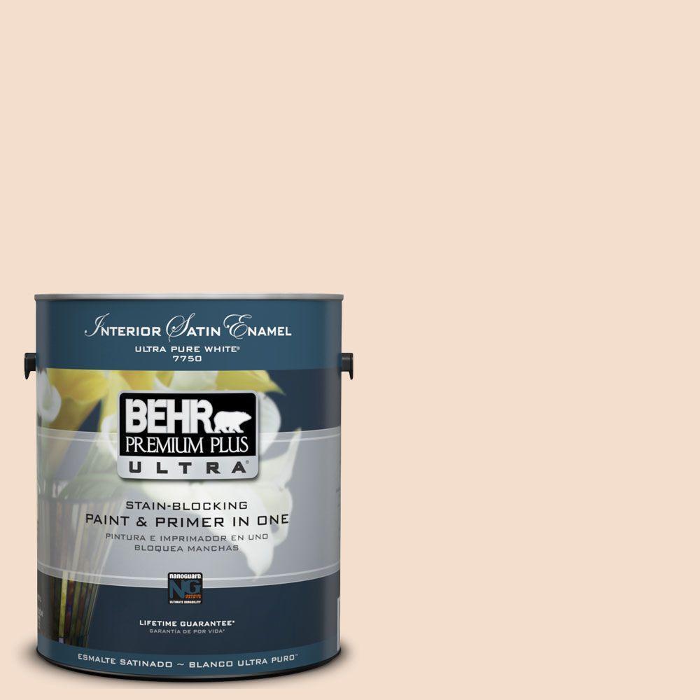 BEHR Premium Plus Ultra 1-Gal. #UL120-13 Splendor Interior Satin Enamel Paint