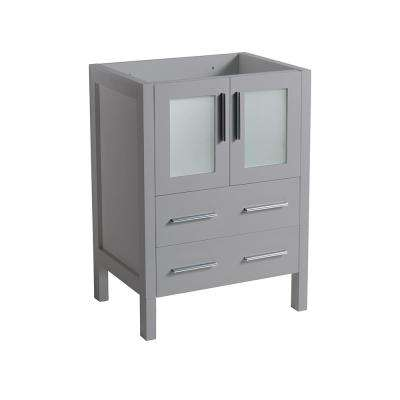 Torino 24 in. W Modern Bath Vanity Cabinet Only in Gray