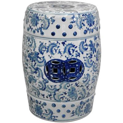 Strange Mpg 19 1 2 In H Cast Stone Carved Garden Stool In White Pabps2019 Chair Design Images Pabps2019Com