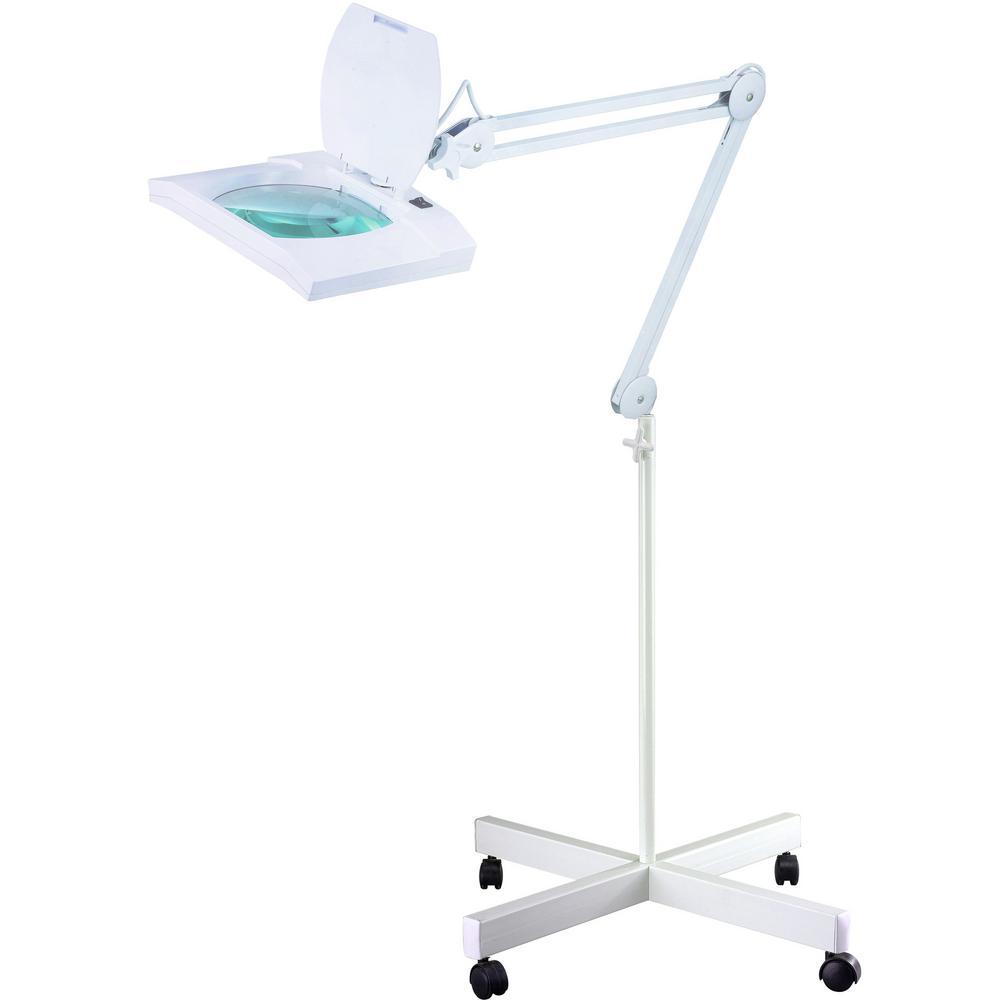 60 in. Multi-Function Full Spectrum White LED Magnifying Floor Lamp