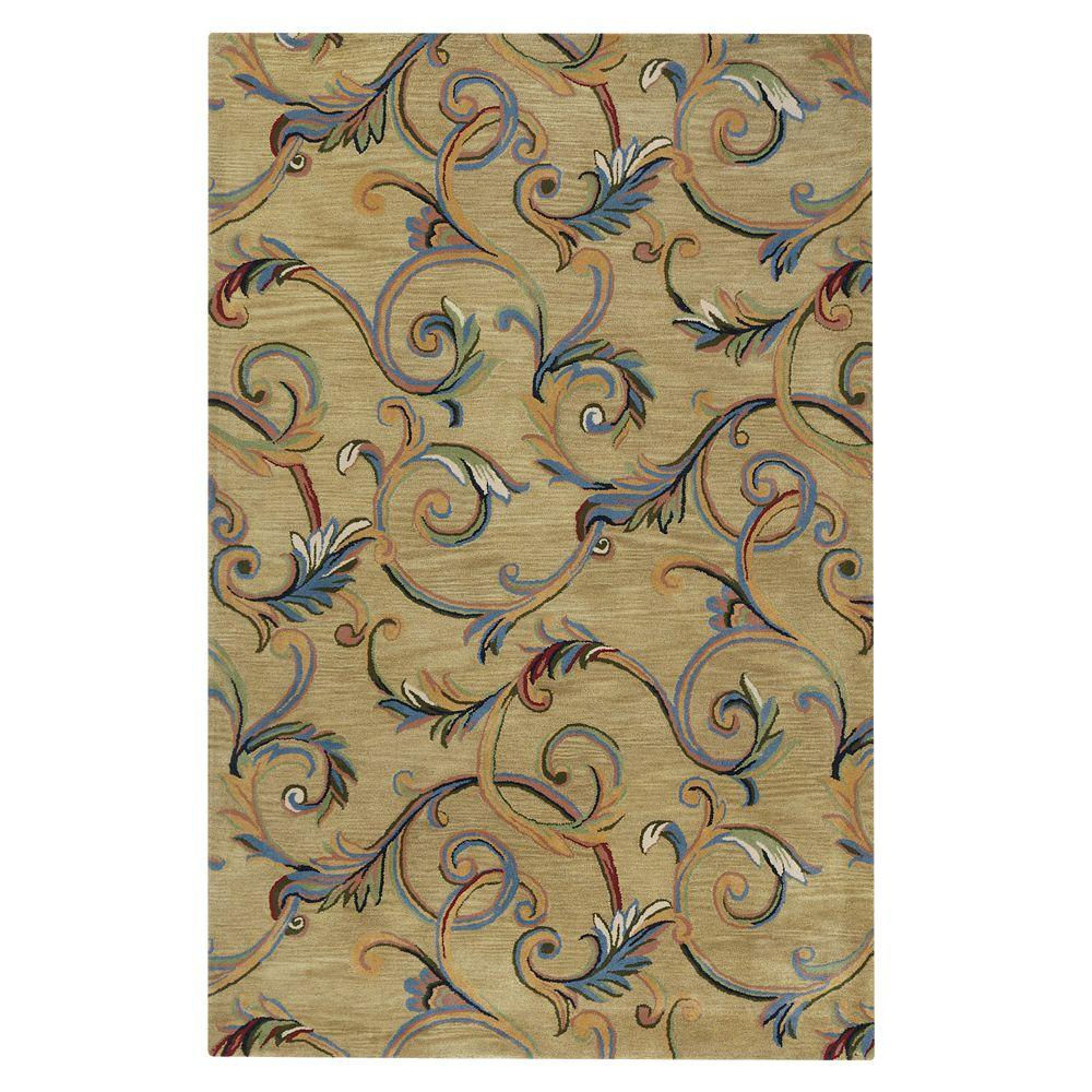 Home Decorators Collection Corinth Beige 3 ft. 6 in. x 5 ft. 6 in. Area Rug