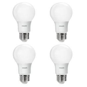 60-Watt Equivalent A19 Non-Dimmable Energy Saving LED Light Bulb Daylight (5000K) (4-Pack)