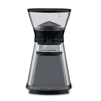 Programmable Conical Burr Mill, Coffee Grinder in Brushed Stainless