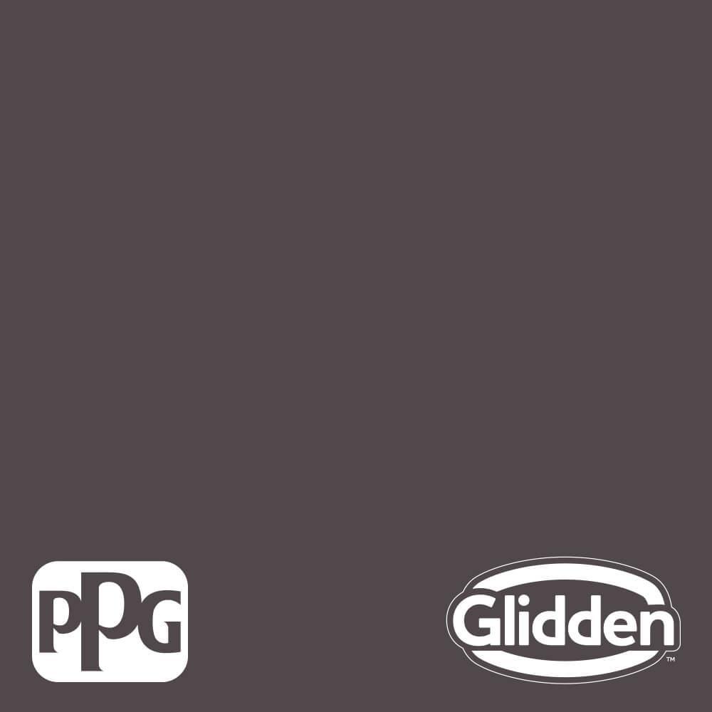 Glidden Premium 5 gal. PPG1004-7 Black Elegance Eggshell Interior Latex Paint
