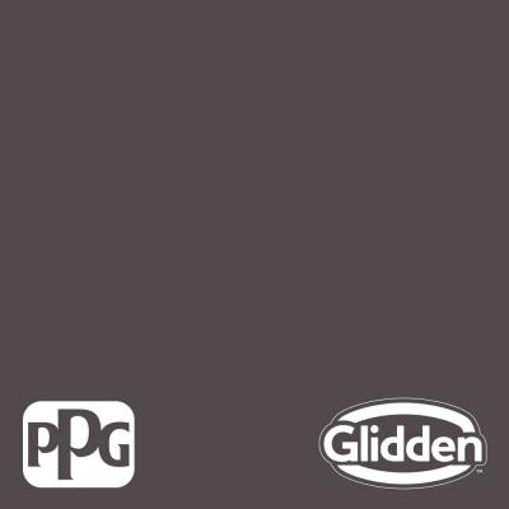 Glidden Premium 5 gal. PPG1004-7 Black Elegance Flat Interior Latex Paint