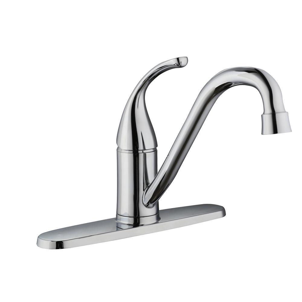 Glacier Bay Builders Single-Handle Standard Kitchen Faucet in Chrome ...