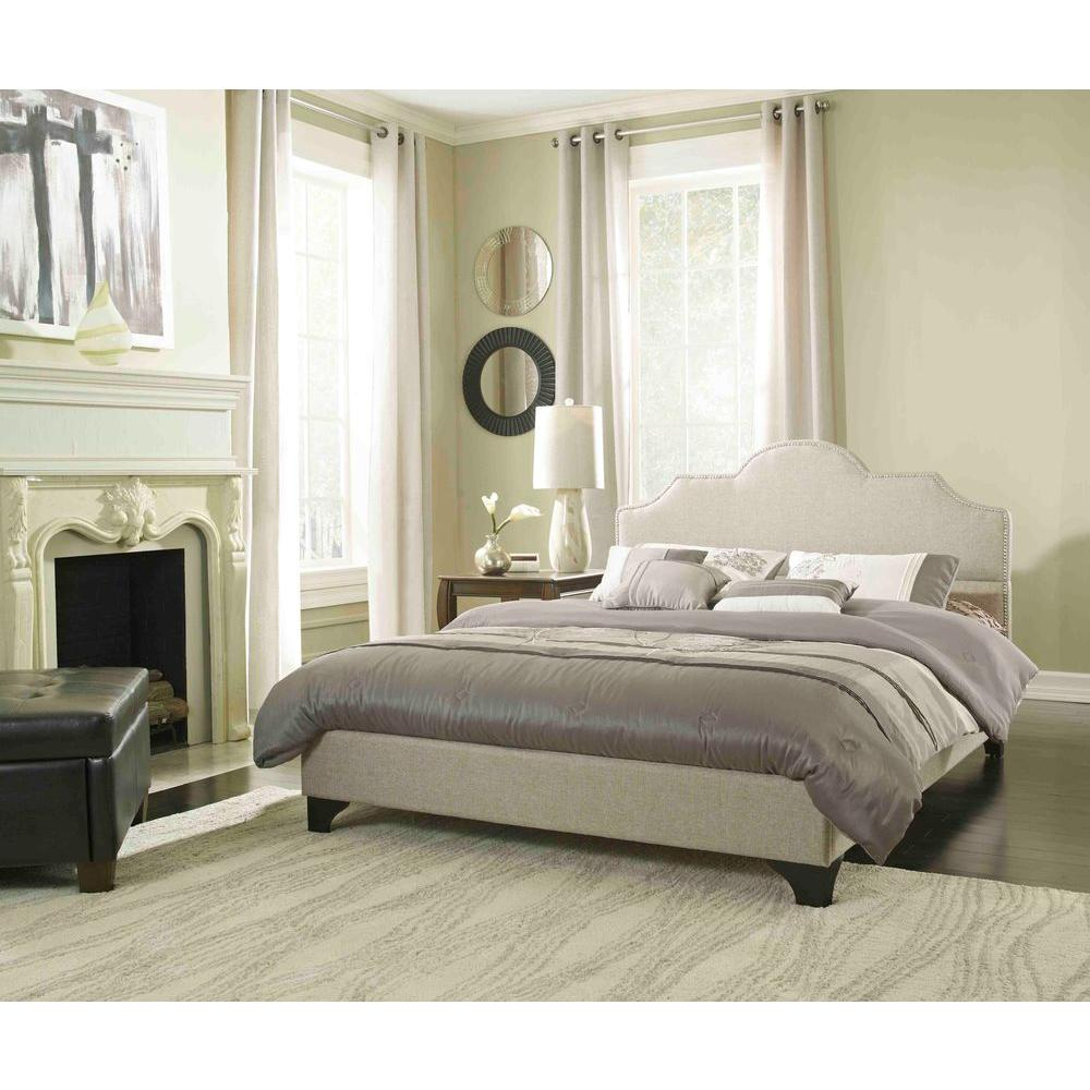 Rest Rite Antioch Taupe Queen Upholstered Bed
