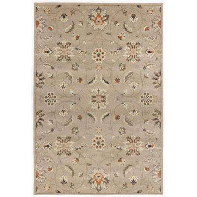 Isabella Light Gray 9 ft. 6 in. x 12 ft. 2 in. Area Rug