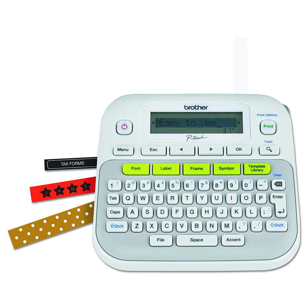 brother p touch label maker white ptd210 the home depot. Black Bedroom Furniture Sets. Home Design Ideas