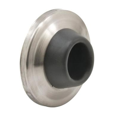 2-1/2 in. Brushed Stainless, Wall Door Stop