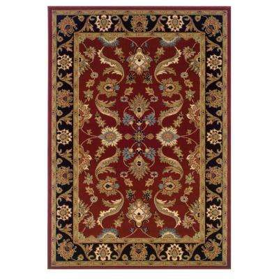 Adana Red/Black Sandstone 7 ft. 9 in. x 9 ft. 10 in. Durable Indoor Area Rug
