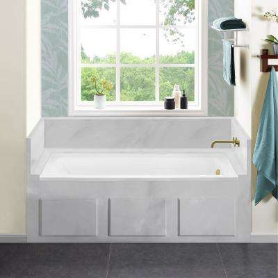 Voltaire 66 x 32 in. Acrylic Right-Hand Drain with Integral Tile Flange Rectangular Drop-in Bathtub in white