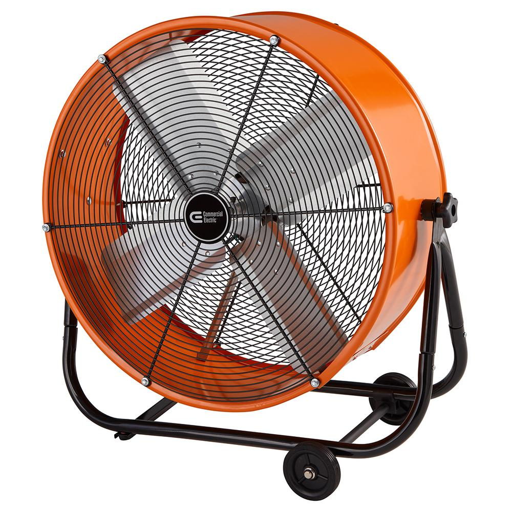 24 Portable Industrial Drum Fan Direct Drive Heavy Duty ...
