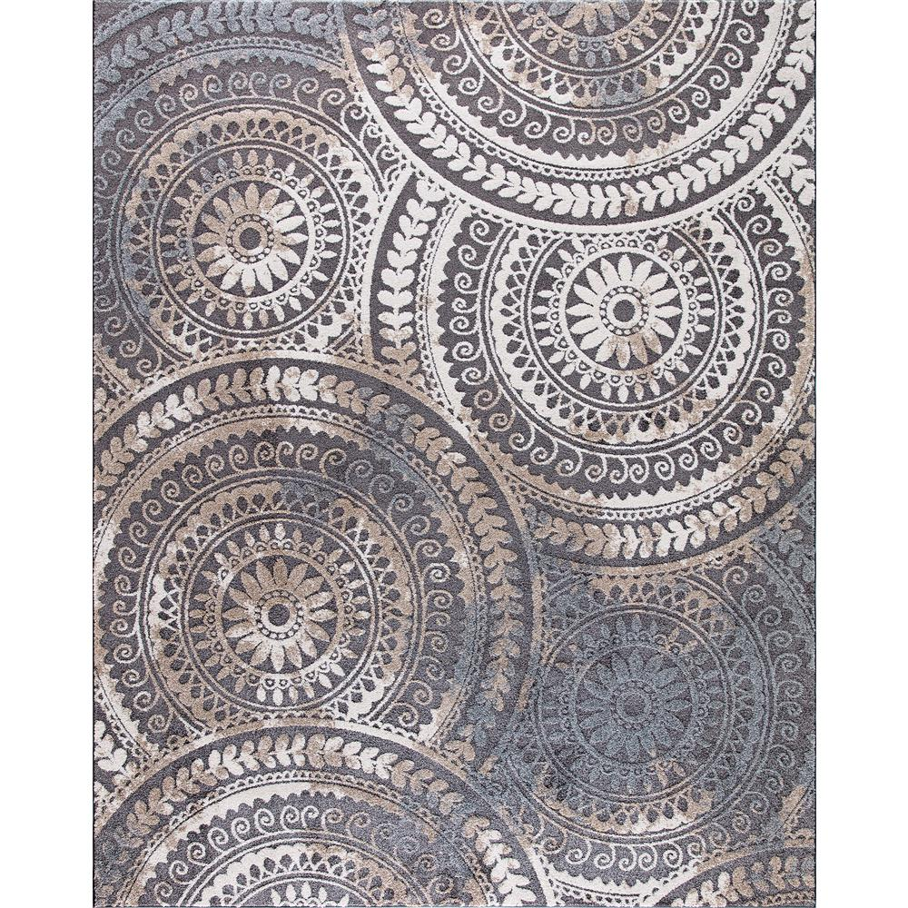 Area Rugs Home Depot: Home Decorators Collection Spiral Medallion Gray 9 Ft. 3
