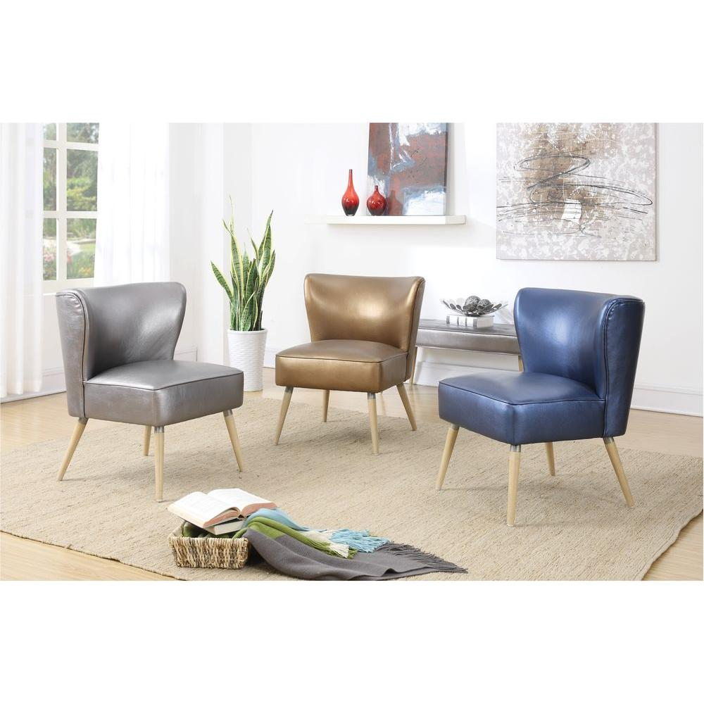 Ave Six Amity Sizzle Copper Fabric Side Chair