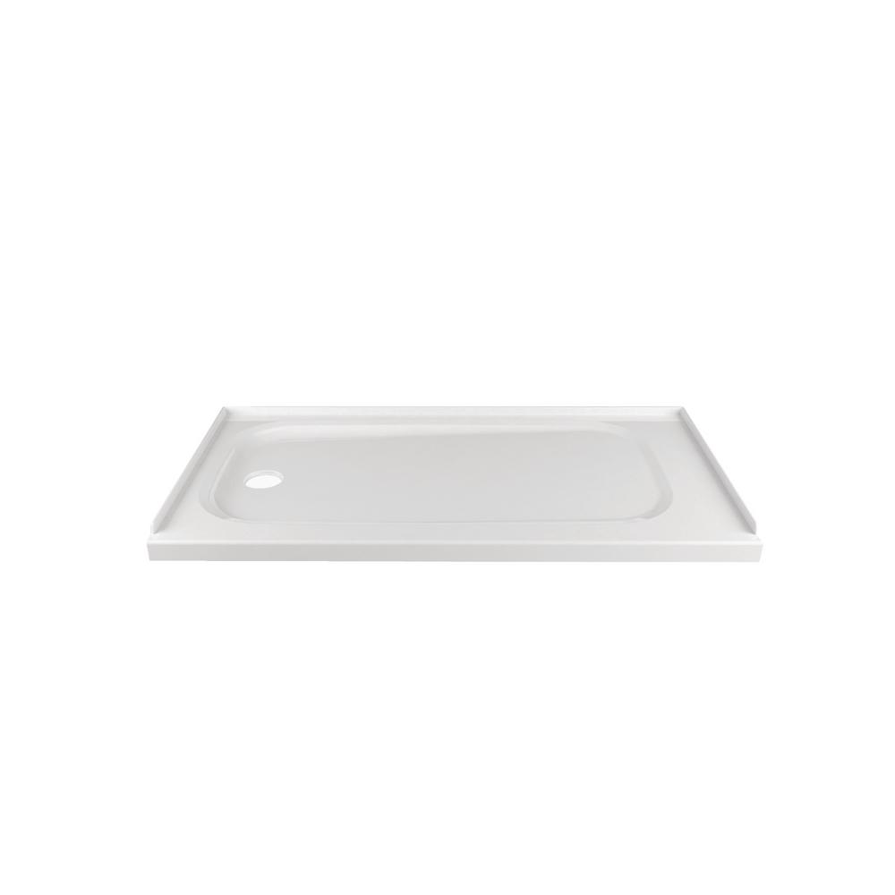 American Standard Passage Left Hand Drain 32 in. x 60 in. Single Threshold Shower Base in White