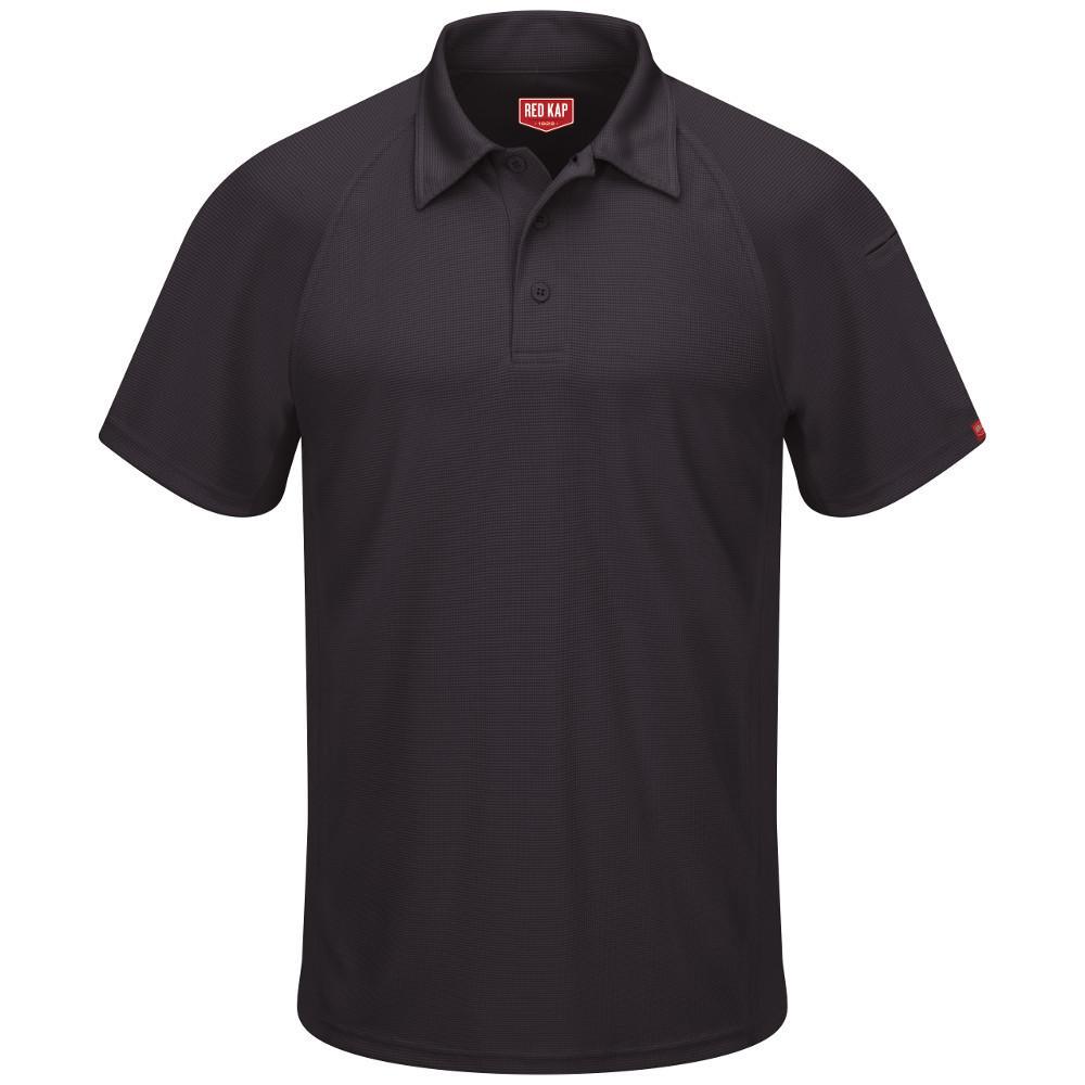 Men's Size 4XL Black Active Performance Polo