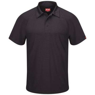 Red Kap Men S Size S Black Active Performance Polo Sk92bk Ss S The Home Depot