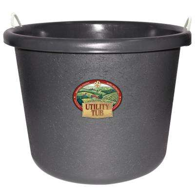 17.5 Gal. Bucket Utility Tub For Maintenance Cleaning Growing and More Slate